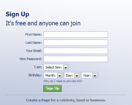 The registration page will look like the image to the right. Fill out ...